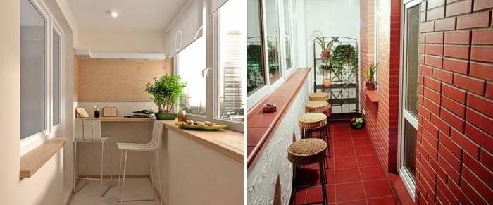 Барная стойка на балконе лоджии дизайн на mega-pics.