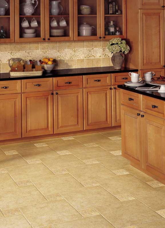 Керамические полы на кухне фото