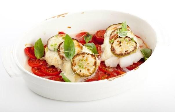 Филе трески с сыром и помидорами в духовке рецепт