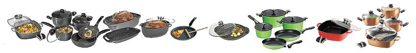 Посуда Stoneline® - это посуда нового поколения из Германии